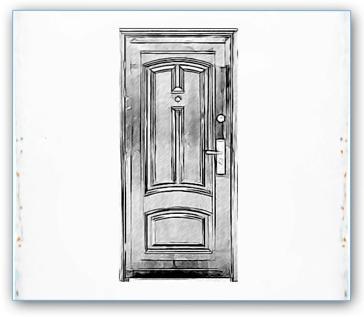 Как нарисовать дверь карандашом поэтапно